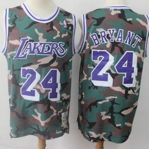 Women Los Angeles Lakers Kobe Bryant Jersey Camo